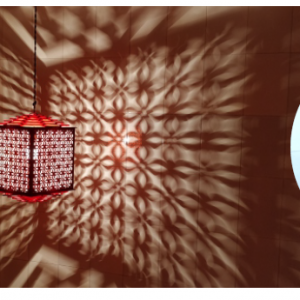MDF Laser Cut Lantern Size S, Colour Orange